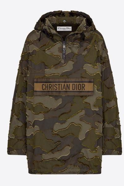Anoraque Dior com padrão camuflado verde e preto - Prêt-à-porter - Moda Feminina | DIOR