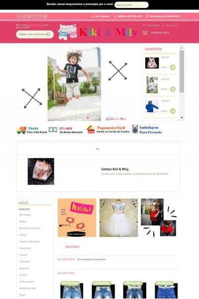 Loja Online Infantil - Kiki & Mily